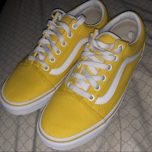 vans shoes old skool yellow
